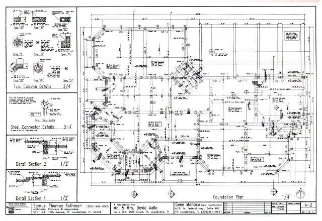 Cadd drawing samples for Foundation plan drawing